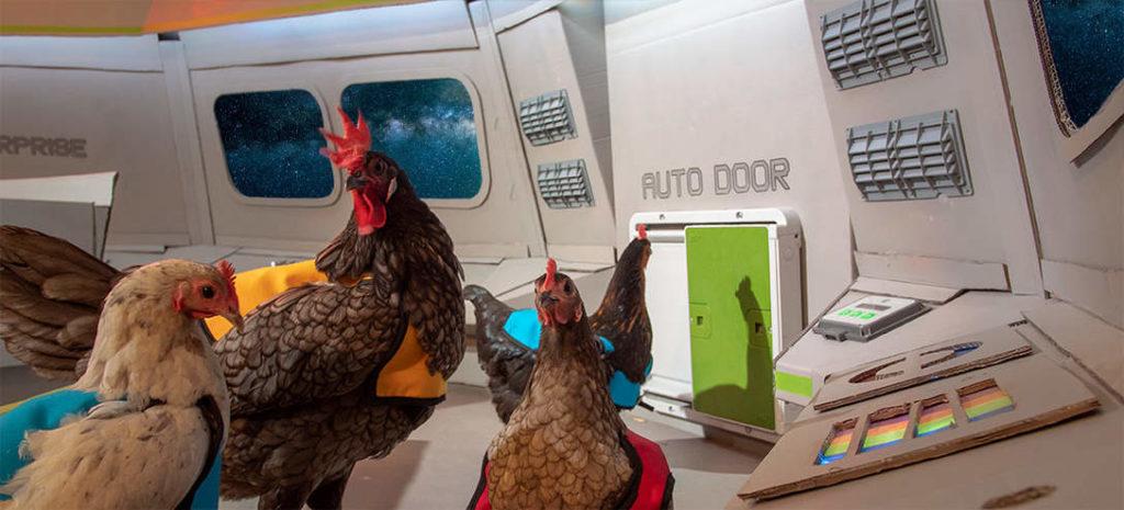 Automatic chicken door on the USS Henterprise