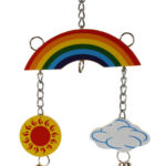 Rainbow Mobile for Chickens and Small Animals