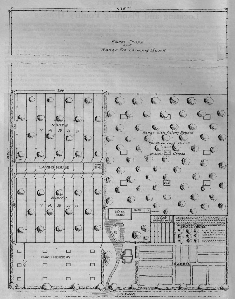 Practical Poultry Farm Ground Plan