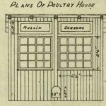 Plan for Poultry House for Adult Fowls or Bantams