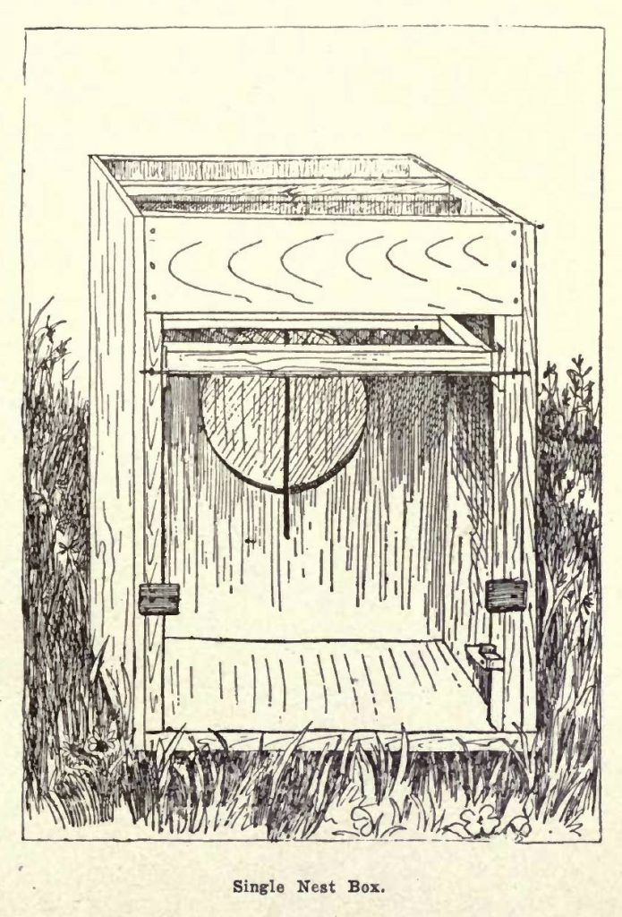 Single Trap Nest Box Diagram