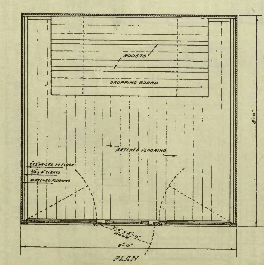 A Shaped Poultry House Plan
