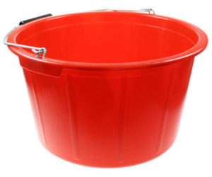 Red Poultry Feed Bucket